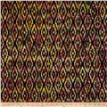 Indian Batik Sierra Nevada Southwest  Stripe Black Lt Multi