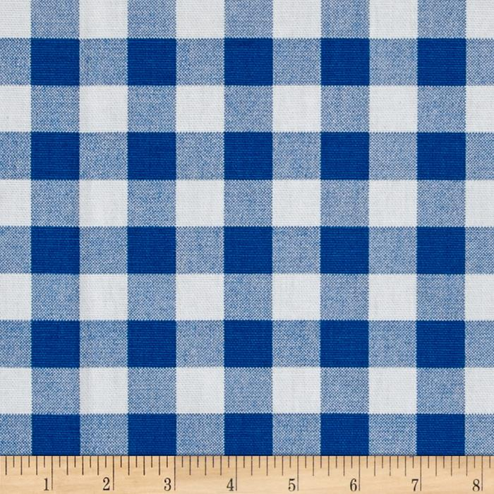 Premier Prints Plaid Cobalt