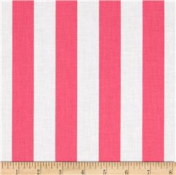"Riley Blake 1"" Stripe Hot Pink"