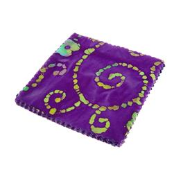 "Indian Batiks Assorted 5"" Charm Pack Purple"