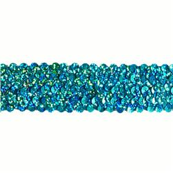 "1 1/2"" Stretch Starlight Sequin Trim Aqua"