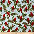 Kaufman Holly Jolly Christmas 5 Cardinals Blue
