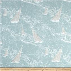 Premier Prints Sail Away Spa Blue