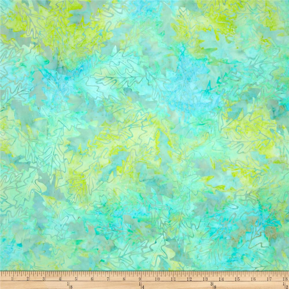 Batavian Batiks Forest Leaves Light Aqua/Green