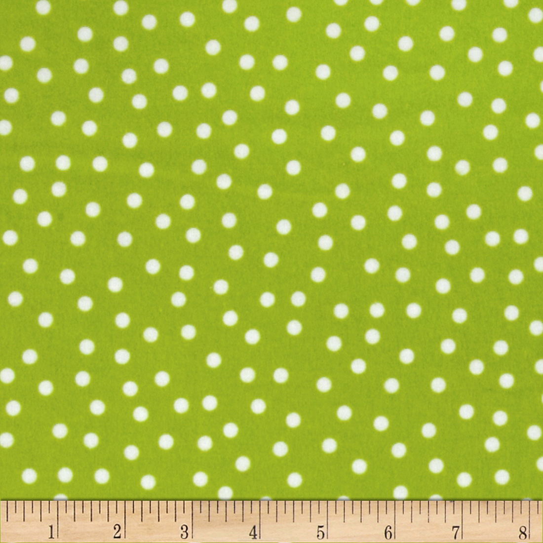 Remix Flannel Dots Kiwi Fabric
