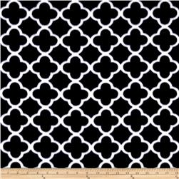 Polar Fleece Quatrefoil Black