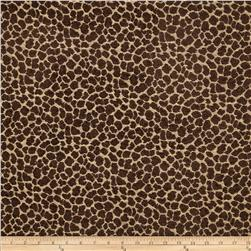 Golding Spots Chenille Jacquard Chocolate Fabric
