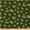 Moda Christmas Countdown Music & Snowflakes Christmas Green