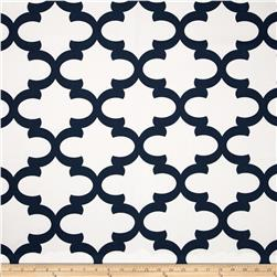 Premier Prints Fynn White/Premier Navy Fabric