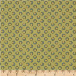 Metallic Dotted Circles Green