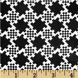 Jet Setter Trellis Check Black Fabric