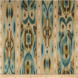 Contempo Hand Made Faux Linen Ikat Dark Turquoise