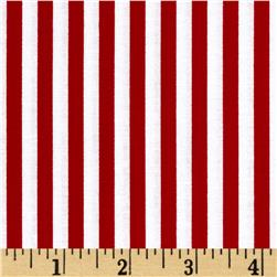 Timeless Treasures Geometric/Abstract Coordinates Stripe Red