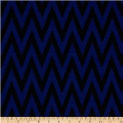 Fashionista Jersey Knit Chevron Blue/Black
