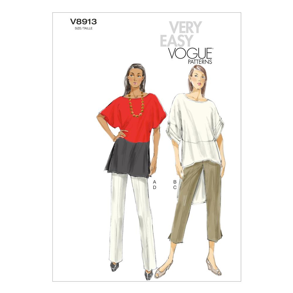 Vogue Misses' Tunic and Pants Pattern V8913 Size 0Y0