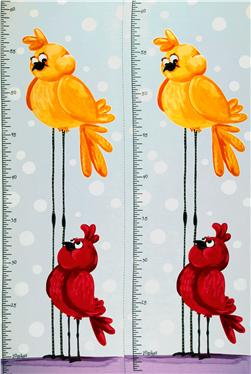 Susybee Bird Growth Chart Panel Blue