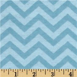 Little Nursery Flannel Chevron Tonal Light Blue