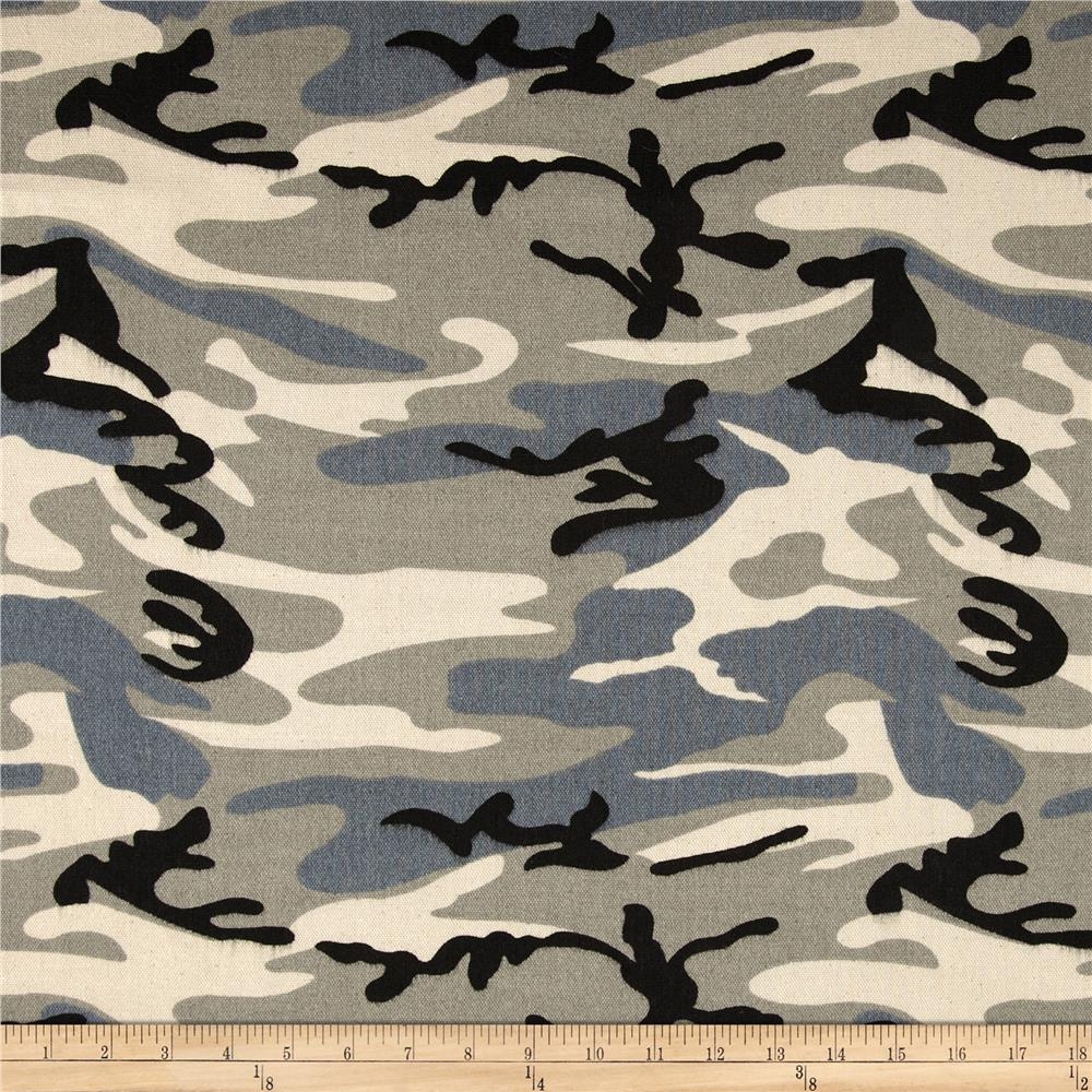 9.3 oz. Canvas Duck Camouflage Grey