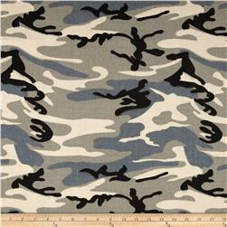 9 oz. Canvas Camouflage Winter White/Grey Fabric