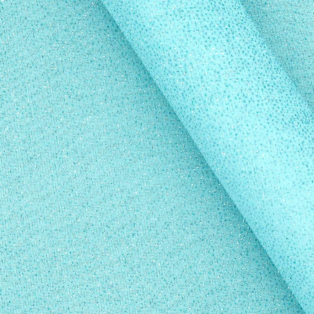 Glitter Chiffon Knit Light Aqua