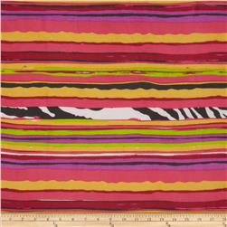 Chiffon Stripe Purple/Yellow/Orange