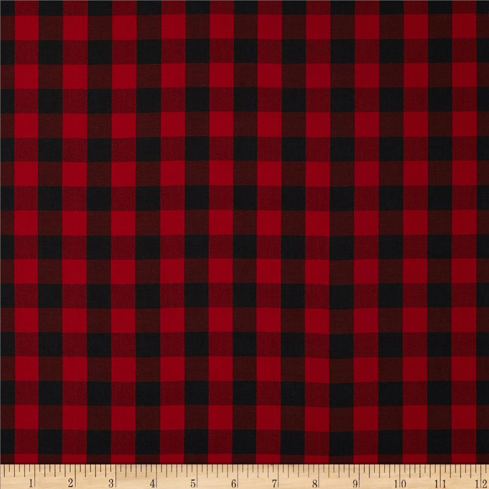 Here s just a sample of the buffalo check fabric options from fabric - Kaufman House Of Wales Plaid Red