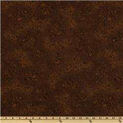 108'' Wide Essential Scroll Quilt Backing Brown