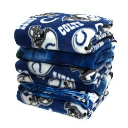 Three Pound NFL Fleece Remnant Bundle Indianapolis Colts