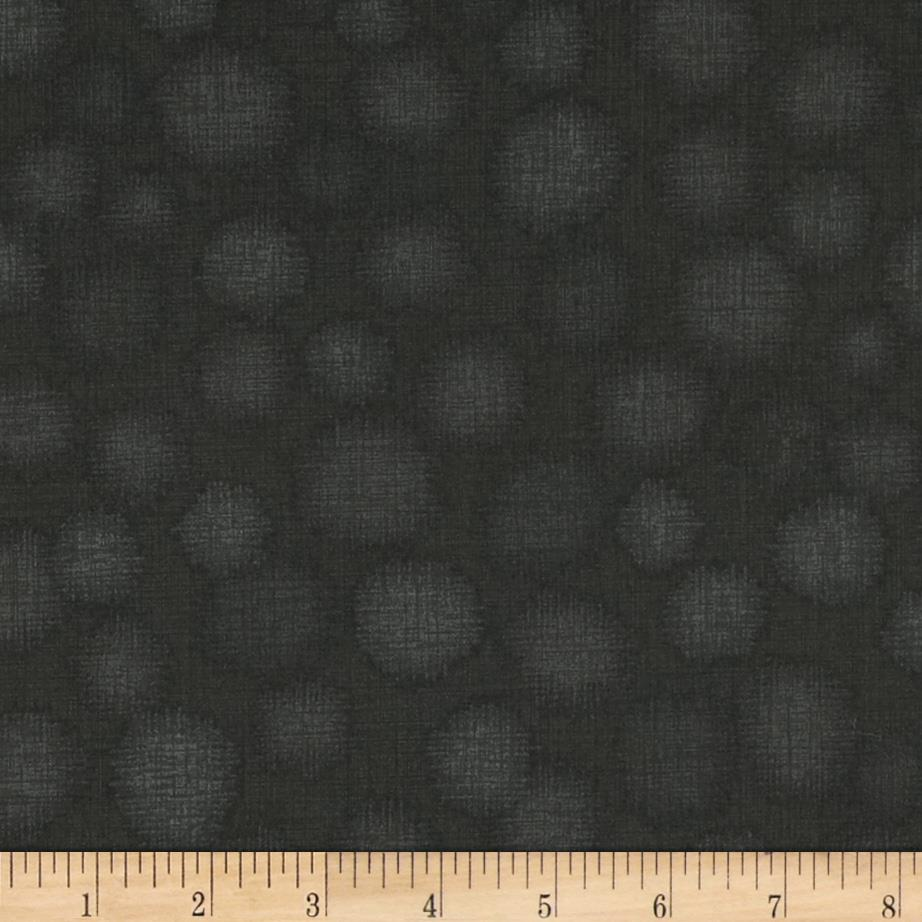 Quilter's Linen Print Dots Charcoal