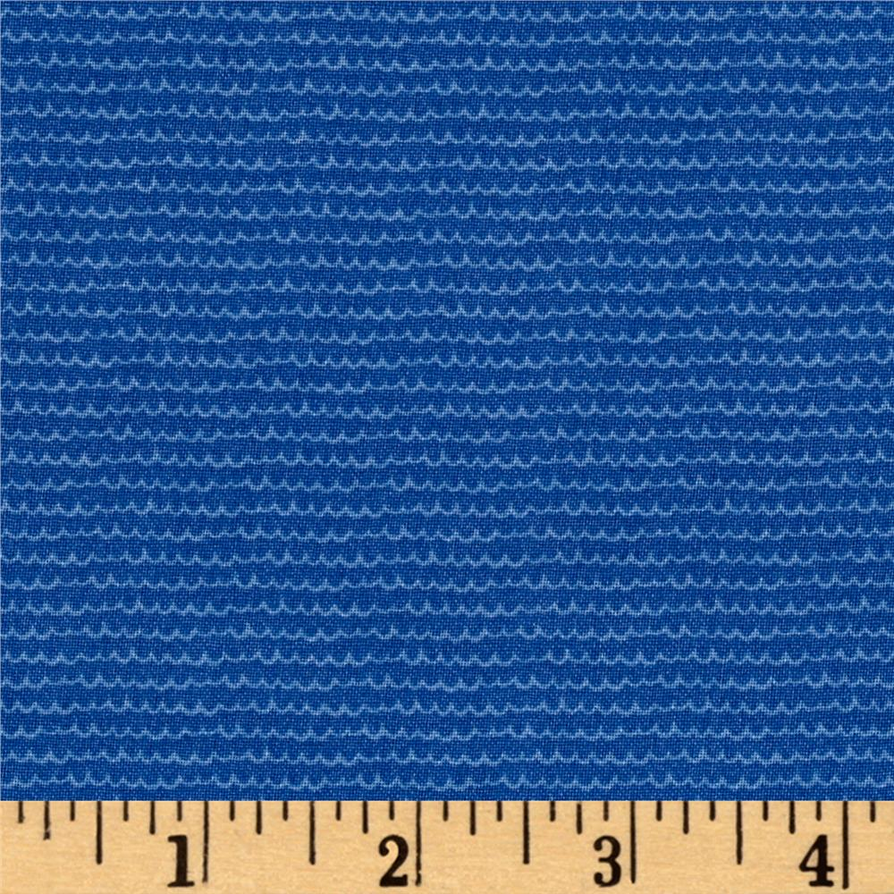 Windham Mouse Camp Mini Waves Blue