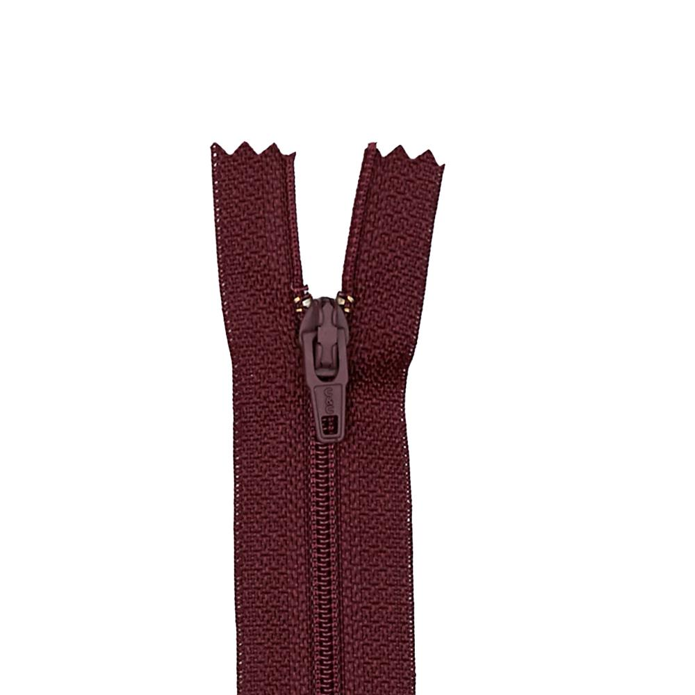 "Coats & Clark Poly All Purpose Zipper 22"" Maroon"