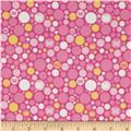 Riley Blake Flannel Snug as a Bug Cirlces Pink