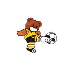 Soccer Bear Applique Brown