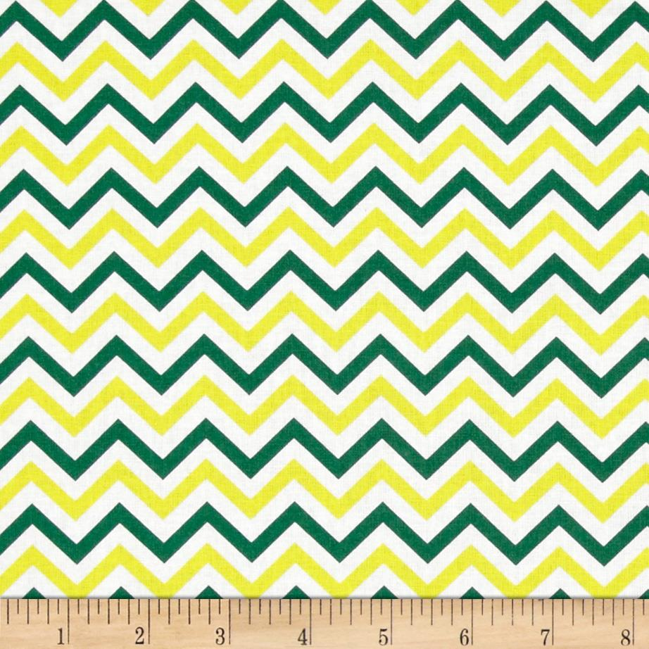 Ups & Downs Chevron Yellow/Green