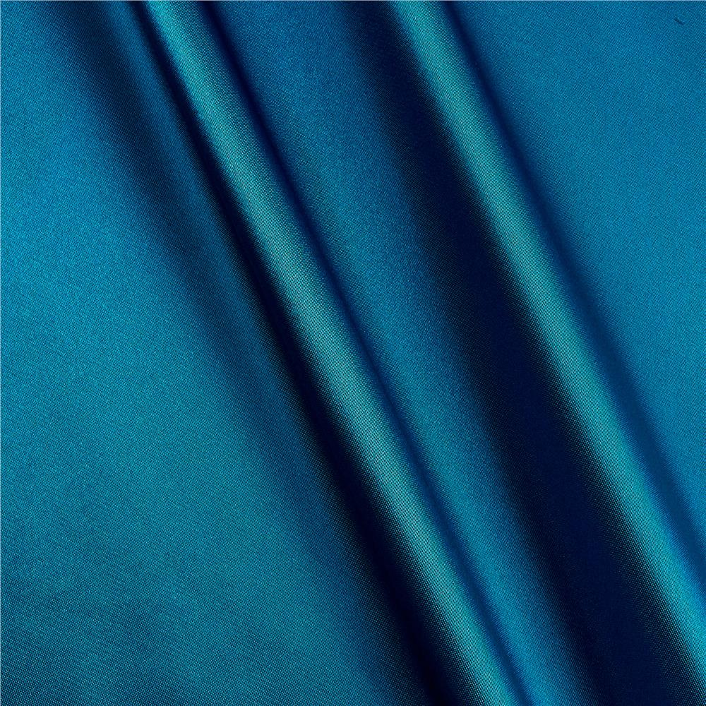 Shannon Silky Satin Charmeuse Peacock Blue Fabric