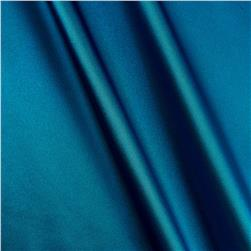 Charmeuse Satin Peacock Blue Fabric