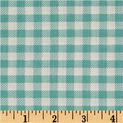 Michael Miller Children at Play School Gingham Aqua