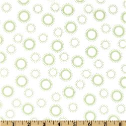 Cozy Cotton Flannel Circles & Dots Celery