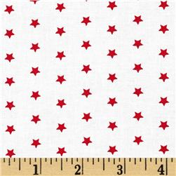 Moda Celebration Stars White/Red