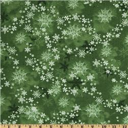 Merry Christmas Snowflakes New Green