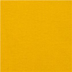 Basic Cotton Rib Knit Canary Yellow