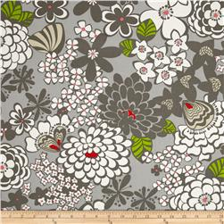 Stachi Floral Grey Fabric