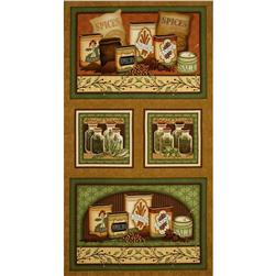 Just A Pinch Herbs & Spices Panel Patches Brown