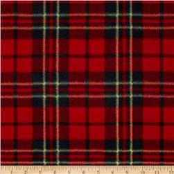 Printed Fleece Scottie Plaid Red