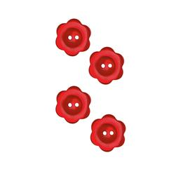Riley Blake Sew Together 1'' Flower Button Red