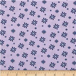 Silk Road Retro Daisies Light Purple