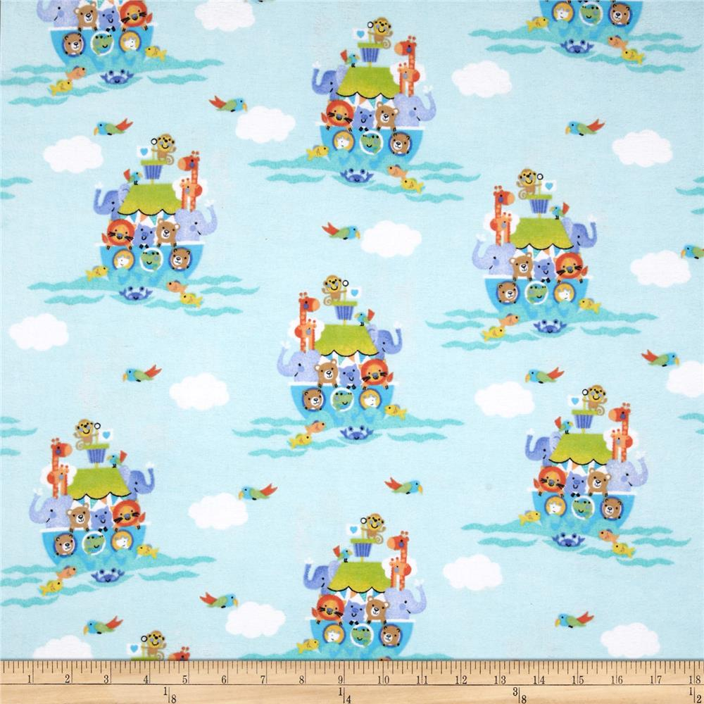 Comfy Flannel Noah's Ark Green