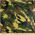 Oil Cloth Camouflage Green