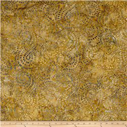 Timeless Treasure Batik Tonga Gypsy Mosaic Swirl Caramel