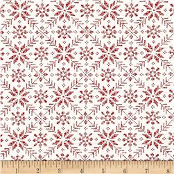 Moda Nordic Stitches Eight Leaf Rose Raud-Sno
